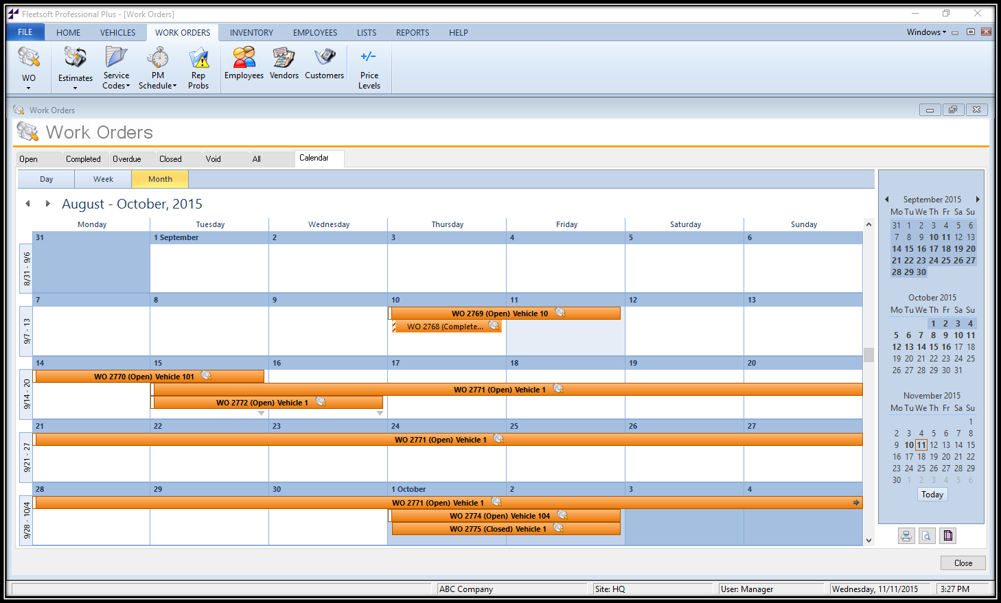 Fleetsoft Calendars